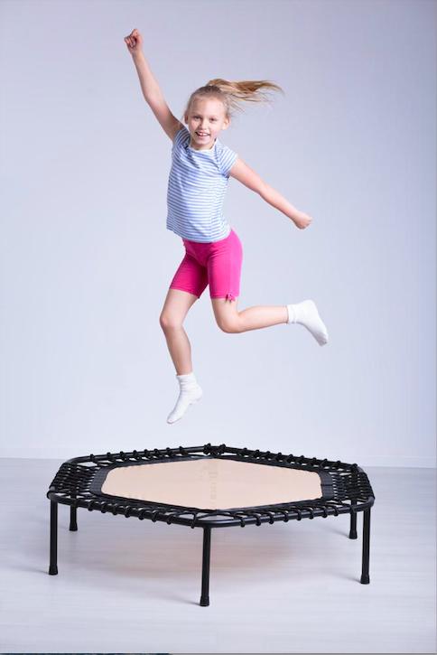 girl on the trampoline bouncer