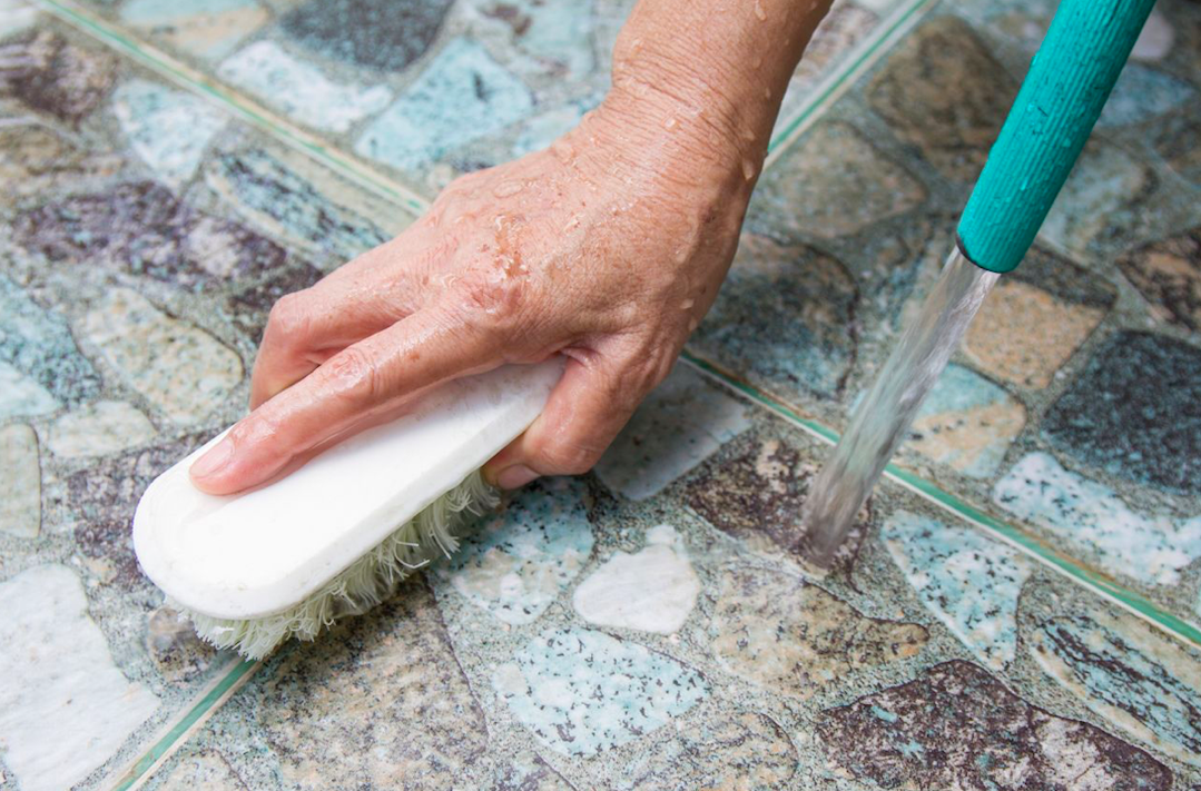 How to remove grout sealer from tiles