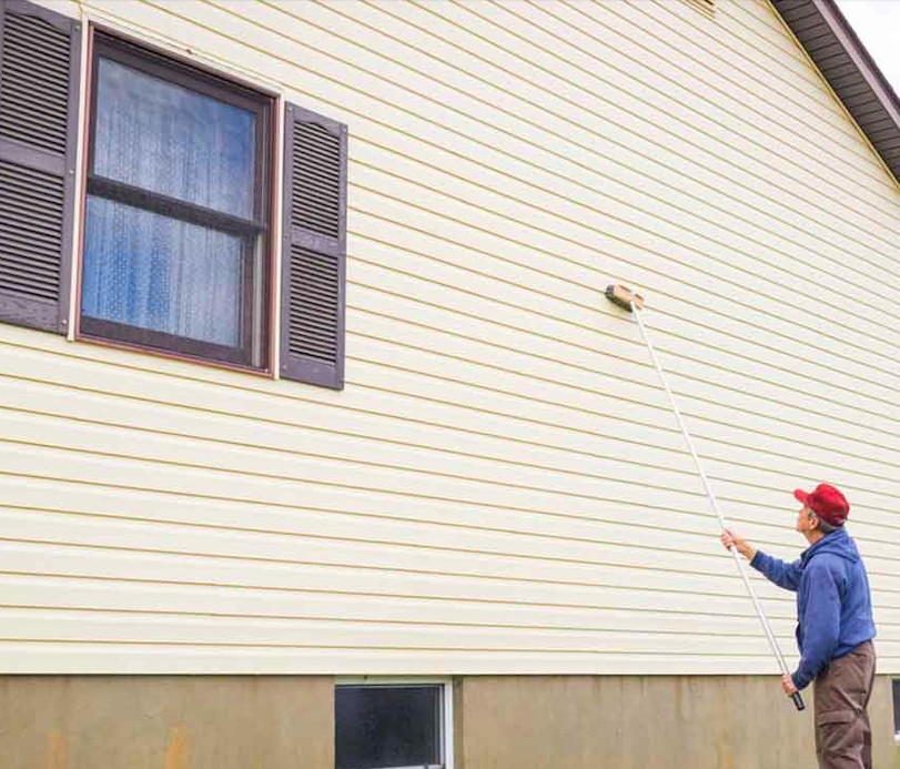 How to get deck stain off vinyl siding